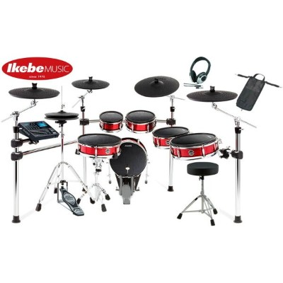 ALESIS Strike Pro Kit [Eleven-Piece Professional Electronic Drum Kit with Mesh Heads] 【ドラムペダル&ハイハット...