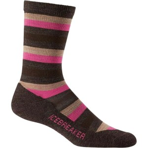 アイスブレーカー Icebreaker レディース インナー ソックス【Lifestyle Light Crew Sock】Earthen Heather/Shocking/Rye Heather