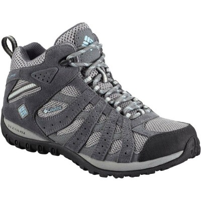 コロンビア Columbia レディース ハイキング シューズ・靴【Redmond Mid Waterproof Hiking Boot】Light Grey/Sky Blue