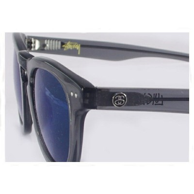 STUSSY ステューシー LUIGI SUNGLASS TRANSLUCENT GREY/BLUE MIRROR UV サングラス メンズ 【140004 LUIGI】