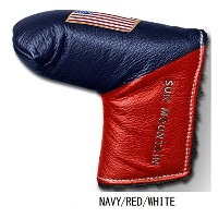 Sun Mountain(サンマウンテン) ヘッドカバー LEATHER PUTTER COVER LEATHER PUTTER COVER ユニセックス  ネイビー/レッド/ホワイト...