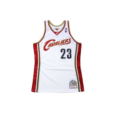 ●MITCHELL&NESS AUTHENTIC THROWBACK JERSEY (NBA/CLEVELAND CAVALIERS/03-04/LEBRON JAMES: WHITE)ミッチェル...