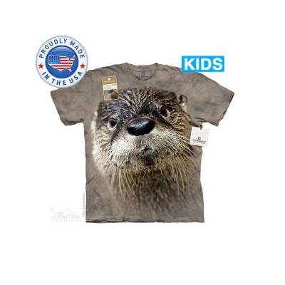 The Mountain Tシャツ The Smithsonian North American River Otter (The Smithsonian イタチ カワウソ キッズ 子供用)【輸入品...
