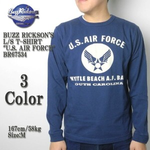 "BUZZ RICKSON'S バズリクソンズ L/S T-SHIRT ""U.S. AIR FORCE"" BR67534"