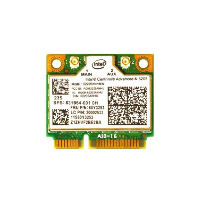 Lenovo/HP純正 60Y3253 631954-001 Intel Centrino Advanced-N 6205 802.11a/b/g/n 300Mbps PCIe Mini half...