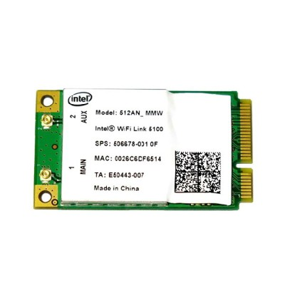 インテル Intel Wireless WiFi Link 5100 802.11a/b/g/n 300Mbps PCIe Mini 無線LANカード 512ANMMW