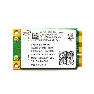 Lenovo純正 43Y6493 インテル Intel Wireless WiFi Link 5100 802.11a/b/g/n 300Mbps PCIe Mini 無線LANカード for...