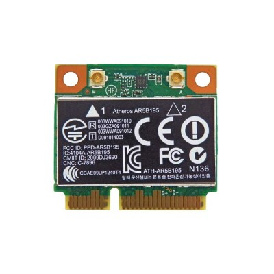 HP純正 593127-001 + 汎用 AR5B195 802.11b/g/n + Bluetooth 3.0 PCIe Mini half 無線LANカード for HP Pavilion...