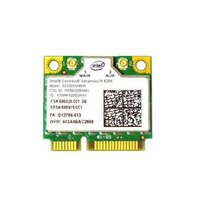 HP純正 695915-001 Intel Centrino Advanced-N 6205 802.11a/b/g/n 300Mbps PCIe Mini half 無線LANカード