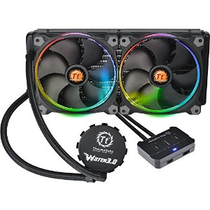 Thermaltake Water 3.0 Riing Edition 280mmラジエーター 水冷一体型CPUクーラー FN1073 CL-W138-PL14SW-A
