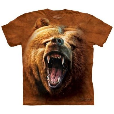The Mountain Tシャツ Grizzly Growl (クマ 熊 ハイイログマ メンズ 男性用 男女兼用) S-L【輸入品】半袖