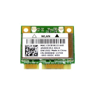 DELL純正 Dell Wireless 1502 WLAN Mini Card AR5B95/AR9285 シングルバンド 2.4GHz b/g/n 150Mbp PCIe mini half...