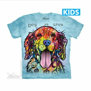 The Mountain Tシャツ Dean Russo Dog Is Love (Dean Russo イヌ キッズ 子供用)【輸入品】半袖