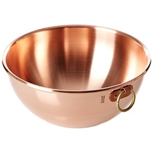 Mauviel Made In France M'Passion 2191.20 Copper 8-Inch Egg White Bowl with Ring by Mauviel