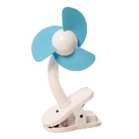 dreambaby ドリームベビー Clip-on Fan Silver with Black Foam ベビーカー扇風機 クリップオン ファン White/Blue ホワイト/ブルー