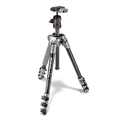 Manfrotto コンパクト三脚 Befree アルミ 4段 ボール雲台キット グレー MKBFRA4D-BH