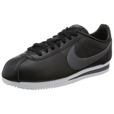 Nike Classic Cortez Leather [749571-011] Men Casual Shoes Black/Dark Grey-White/US 11.5
