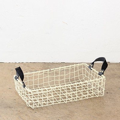COCO WIRE HANDLE BASKET NO.08 IVORY