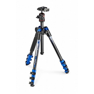 Manfrotto コンパクト三脚 Befree アルミ ボール雲台キットNEWデザイン ブルー MKBFRA4BL-BH