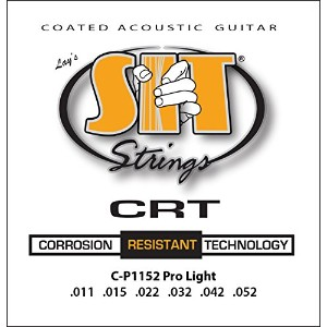 SIT STRINGS エスアイティストリングス アコギ用コーティング弦 CRT Coated Strings Pro Light CP1152【国内正規品】