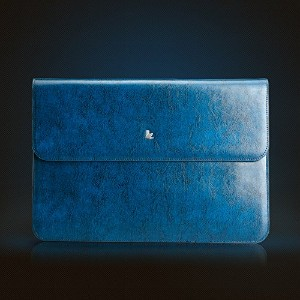 Jisoncase 【MacBook Air 13.3インチ対応本革ポーチ】 Genuine leather pouch ブルー JS-AIR-01Z46