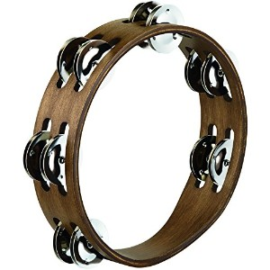 MEINL Percussion マイネル タンバリン Compact Wood Tambourine Stainless Steel 2rows CTA2WB 【国内正規品】