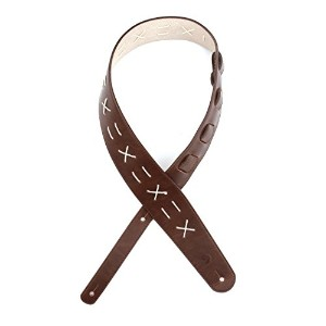 Planet Waves by D'Addario プラネットウェーブス ギターストラップ Madison Collection Leather Guitar Strap L25W1501 Decorative Stitch 【国内正規品】