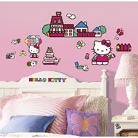 RoomMates ウォールステッカー World of HelloKitty Wall Decals RMK1678SCS