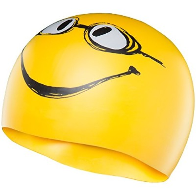 TYR(ティア) スイムキャップ HAVE A NICE DAY SWIM SILICONE CAP LCSMILEY イエロー FREE