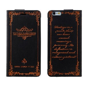 Vintage Hardcover Case for iPhone6/6s ブラック DCI-14VH-BK