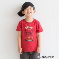 【3can4on(Kids) (サンカンシオン)】カーズ Tシャツキッズ トップス|カットソー・Tシャツ イエローグリーン