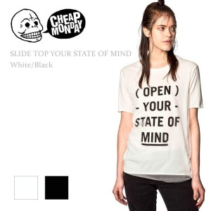 【SALE】Cheap Monday(チープマンデー)SLIDE TOP White/Black トップス/Tシャツ
