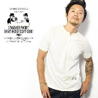 GLADHAND グラッドハンド STANDARD POCKET HENLEY NECK USED T-SHIRTS -WHITE- gladhand-13used メンズ Tシャツ 半袖Tシャツ...