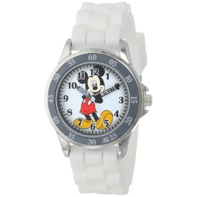 Disney Kids' MK1240 Watch with White Rubber Band ミッキーマウス キッズ 腕時計【並行輸入品】