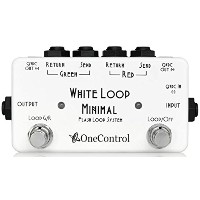 One Control ワンコントロール Minimal Series エフェクター スイッチャー Flash Loop with 2DC OUT White Loop