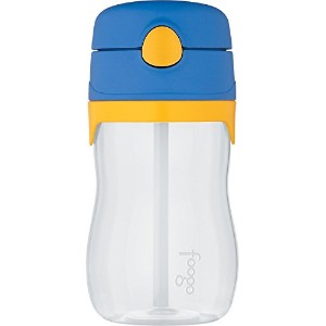 Thermos Foogo Phases Leak Proof Tritan Straw Bottle, 11 Ounce 幼児用 水筒 300ml ブルー