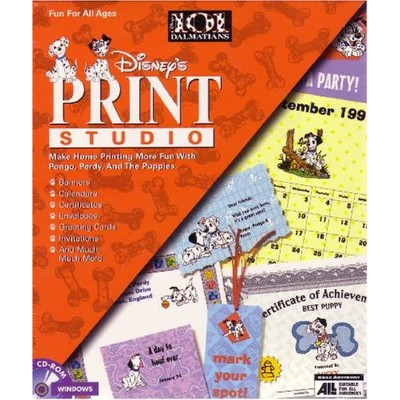 Disney's Print Studio: 101 Dalmatians / CD Rom Pc
