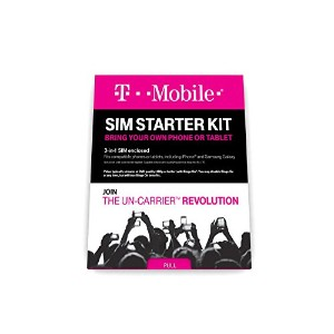 T-Mobile Prepaid Complete SIM Starter Kit - No Contract Network Connection (Universal: Standard,...