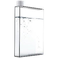 Asobu E Flask Plastic Water Bottle, 16 oz., Clear by asobu