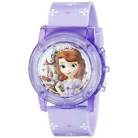 ディズニー Disney Sofia the First Kids' SOF1561SR Digital Display Analog Quartz Purple Watch [並行輸入品]
