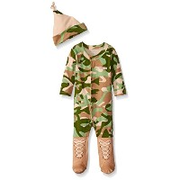 Baby Aspen Big Dreamzzz Baby Camo Layette Set with Gift Box, Tan, 0-6 Months ベビー服 迷彩