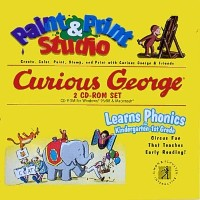 Curious George Paint & Print Studio and Learns Phonics for Kindergarten - 1st Grade (輸入版)