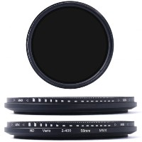 【XCSOURCE】58mm 減光フィルター 可変式NDフィルター (ND2 ND4 ND16 - ND400) LF111