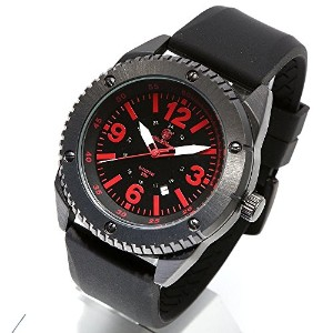 [Smith & Wesson]スミス&ウェッソン ミリタリー腕時計 KNIVES WATCH BLACK/RED SWW-693-BKP [正規品]