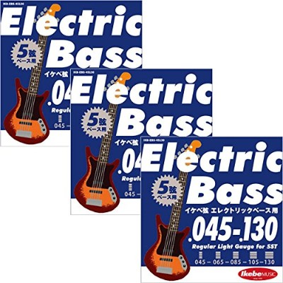 "Ikebe Original Electric Bass Strings ""イケベ弦 5弦エレキベース用 045-130"" [Regular Light Gauge for 5ST/IKB-EBS..."