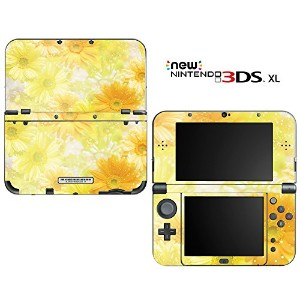 new3DSLL 【スキンシール】 New ニンテンドー 3DS LL /BF18/Yellow Flowers