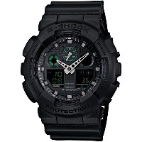 [カシオ]CASIO 腕時計 G-SHOCK Military Black Series  GA-100MB-1AJF メンズ