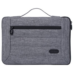 ProCase 13-13.5インチ Laptop用スリーブ ケース カバー バッグ MacBook Pro Air Surface Book 12、13インチのLaptop Ultrabook Notebook MacBook Chromebook対応 –グレー