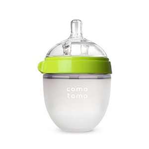 Comotomo Natural Feel Baby Bottle, Green, 5 Ounces by Comotomo [並行輸入品]
