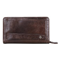 Contacts Men's Genuine Leather Cowhide Clutch Bag Handbag Organizer Checkbook Wallet Card Case